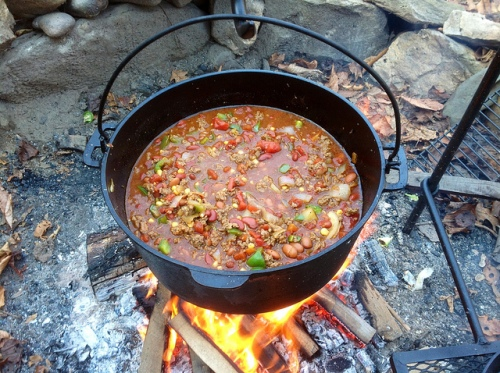 chili over fire